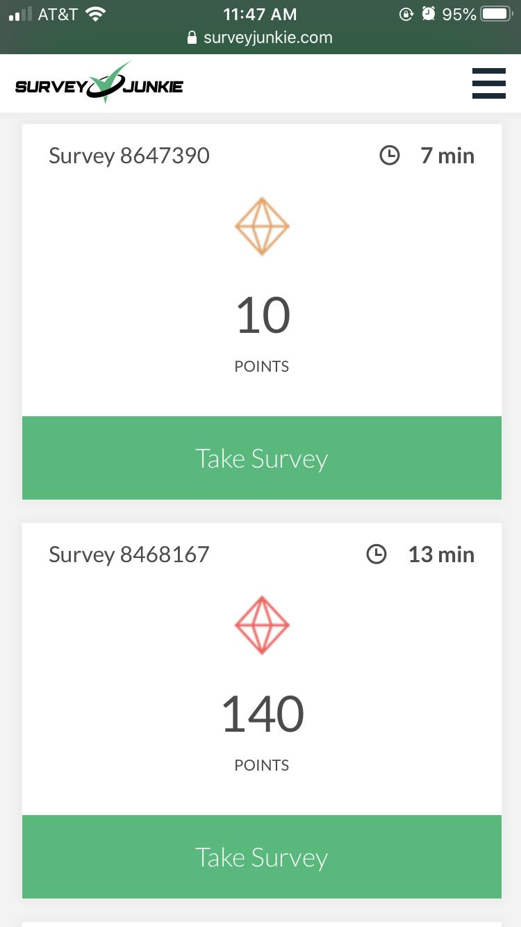 How much can you earn on Survey Junkie
