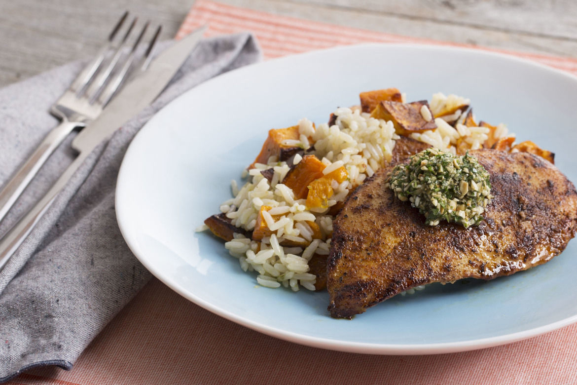 Blue Apron Review - Seared Chicken
