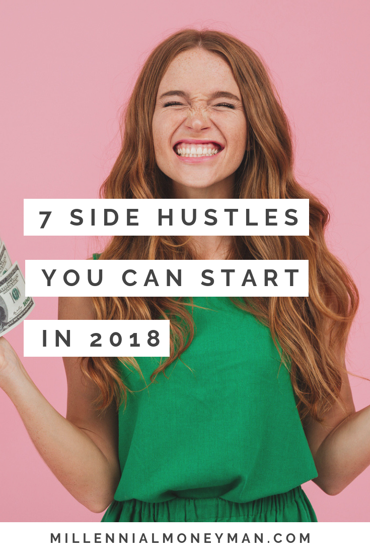 Click to learn 7 side hustle ideas to money at home or help you make extra cash to pay off your debt.