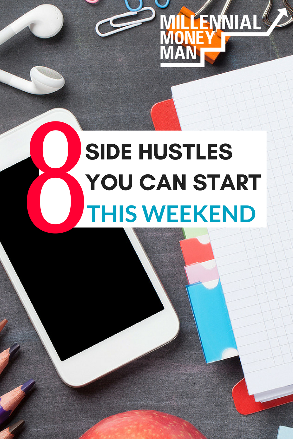 Check out these 8 side hustle ideas to get started making extra cash in your spare time. #makemoney #sidehustle
