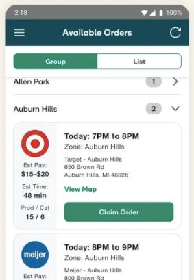 Shipt Shopper app
