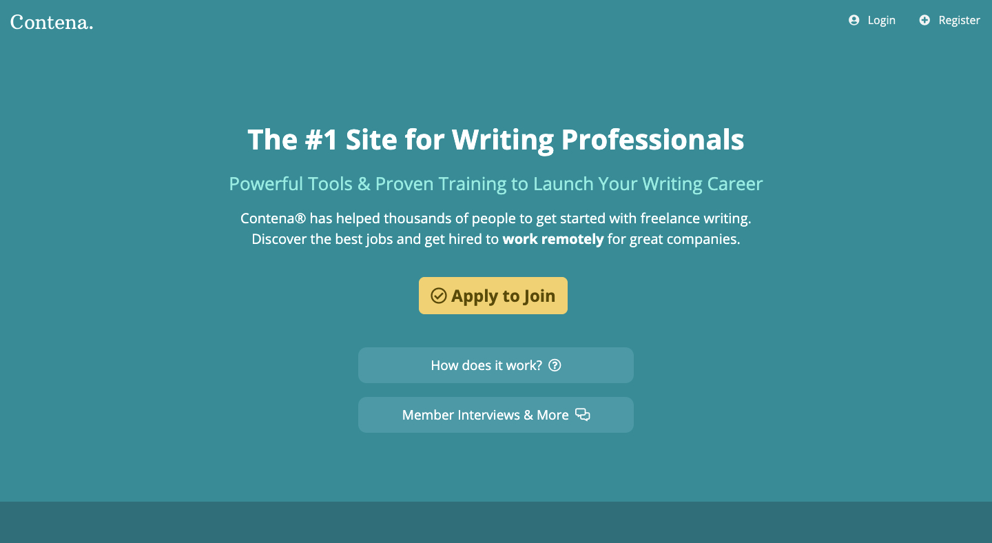 Contena Review | Is This Really the Best Place for Freelance Writers to Start? 2