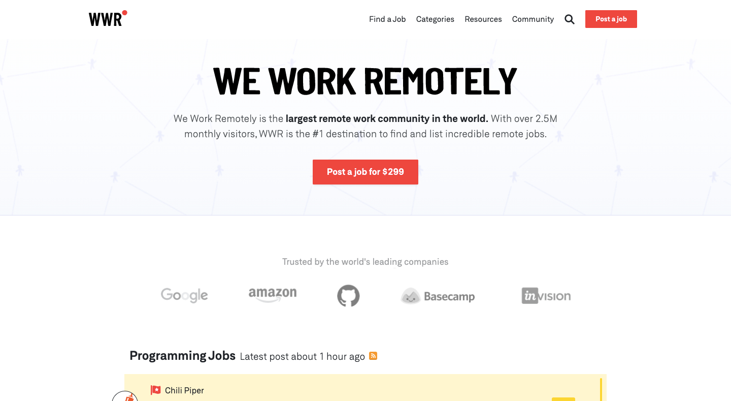 We Work Remotely (WWR)