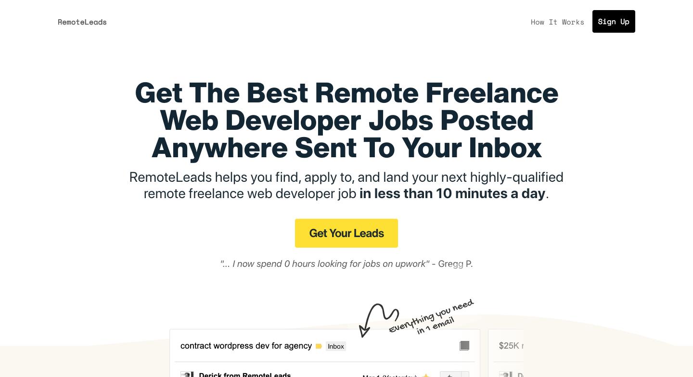 RemoteLeads Site