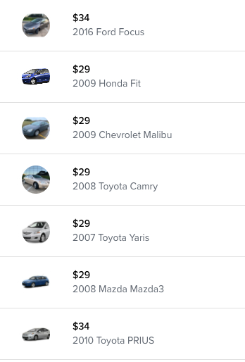 HyreCar Listings in Houston, TX