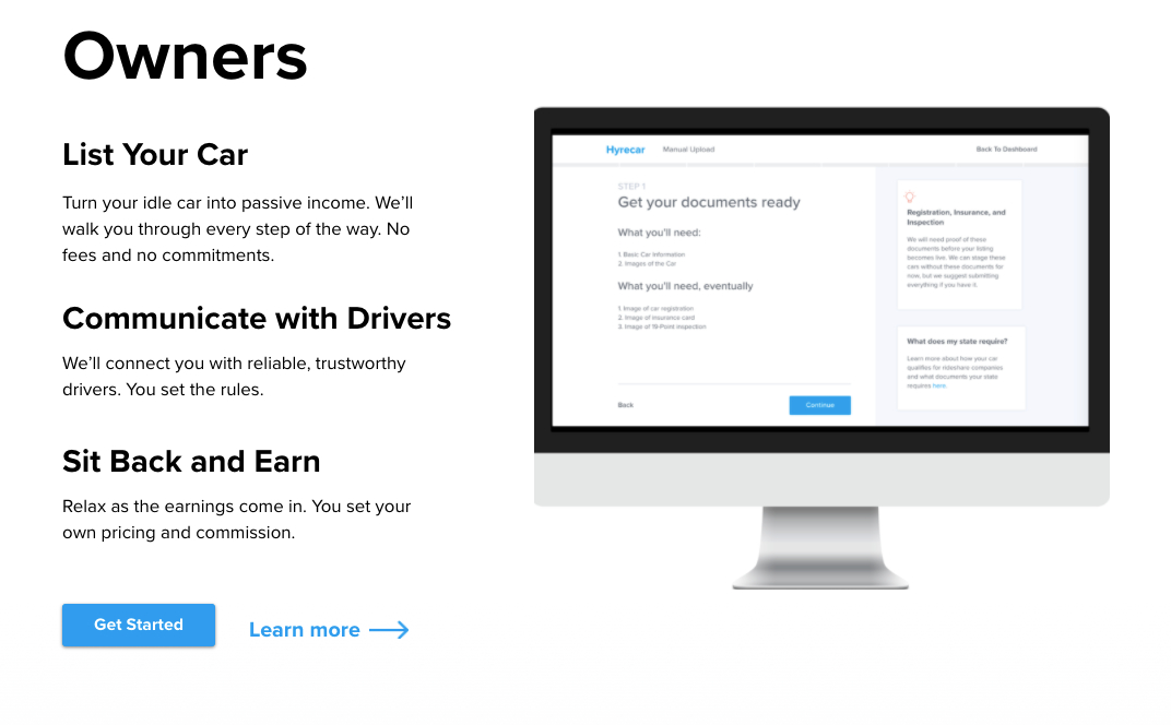 How HyreCar works for car owners