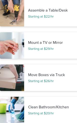 TaskRabbit - Taskers prices