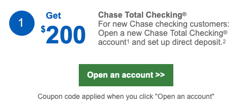 Sample Offer from Chase