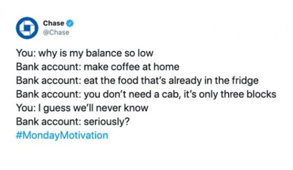 Chase Bank Monday Motivation