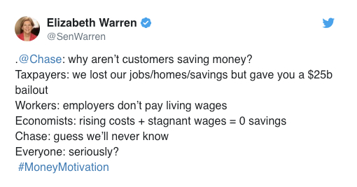 Elizabeth Warren dunked on the tweet