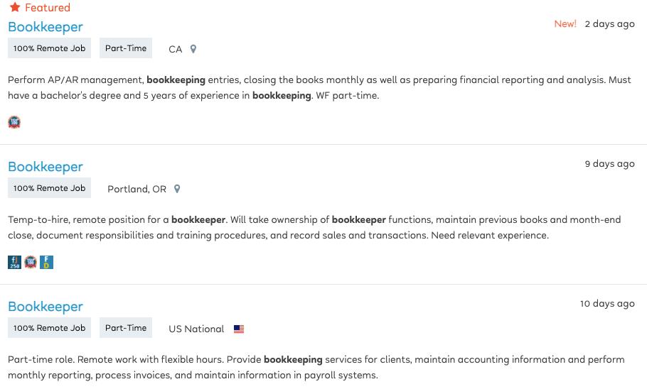 Bookkeeping Jobs in FlexJobs