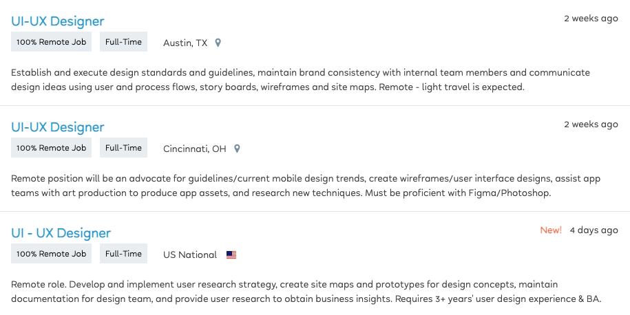 UI/UX design jobs in FlexJobs