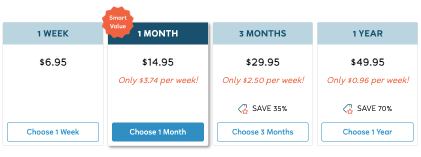 FlexJobs Pricing Options