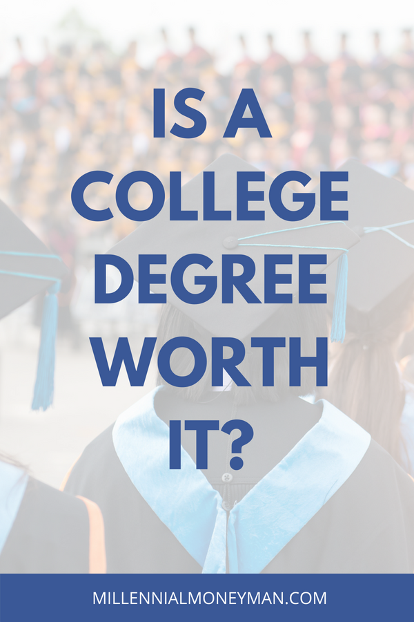 Getting a college degree costs a lot of money in the form of student loans. Click through for tips and advice to help you or your loved ones decide if higher education is worth the money and debt. #studentloans #debt #college #money