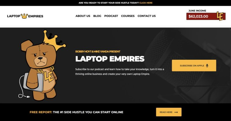 The Laptop Empires Podcast and Website are Live!
