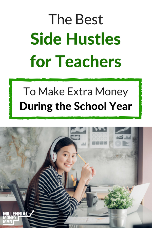 Click to learn about the best online side hustle jobs for teachers who are looking for ideas to make money from home.  #sidehustle #makemoneyonline
