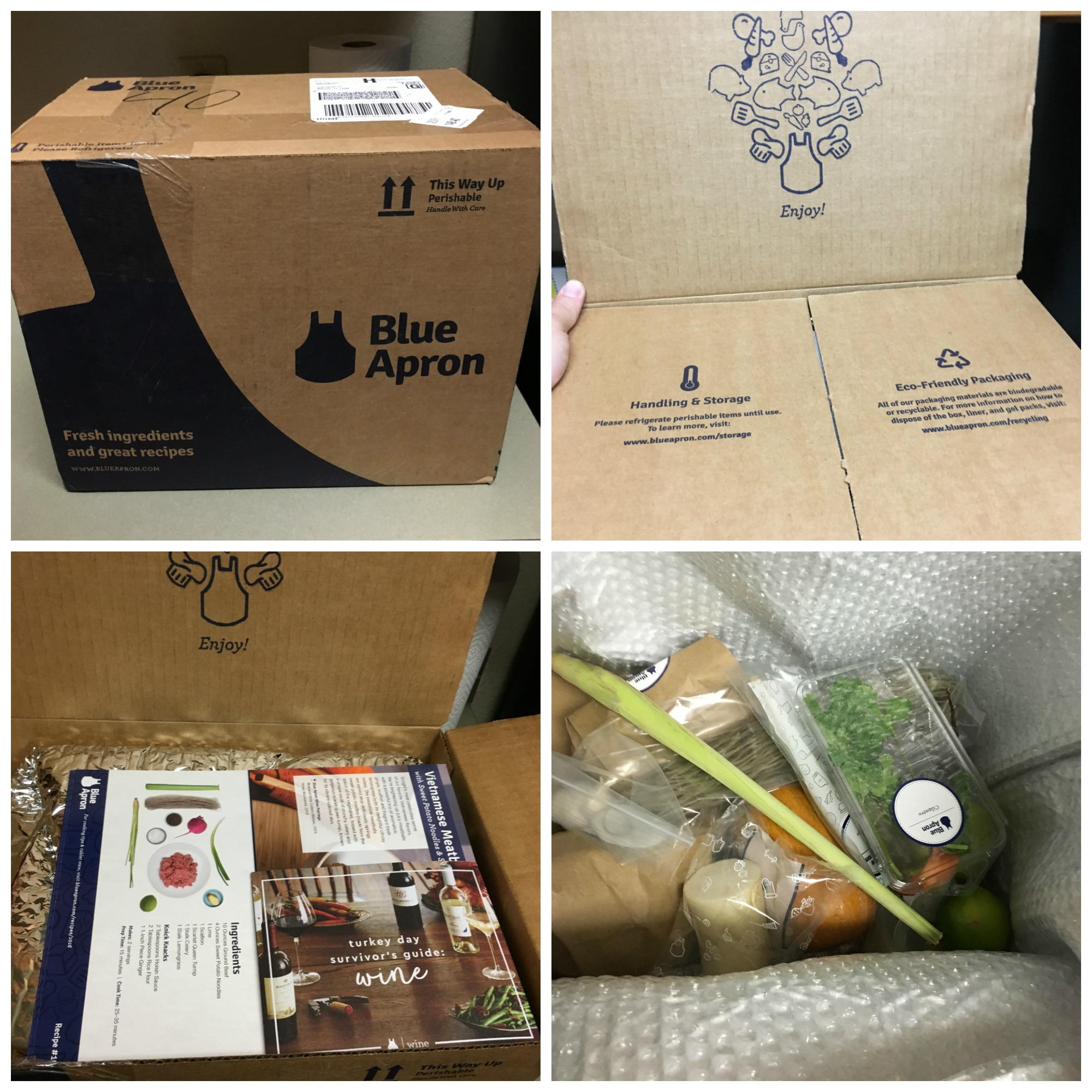 Blue apron packaging - Save