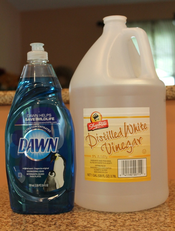 blue dawn and vinegar for cheap cleaning