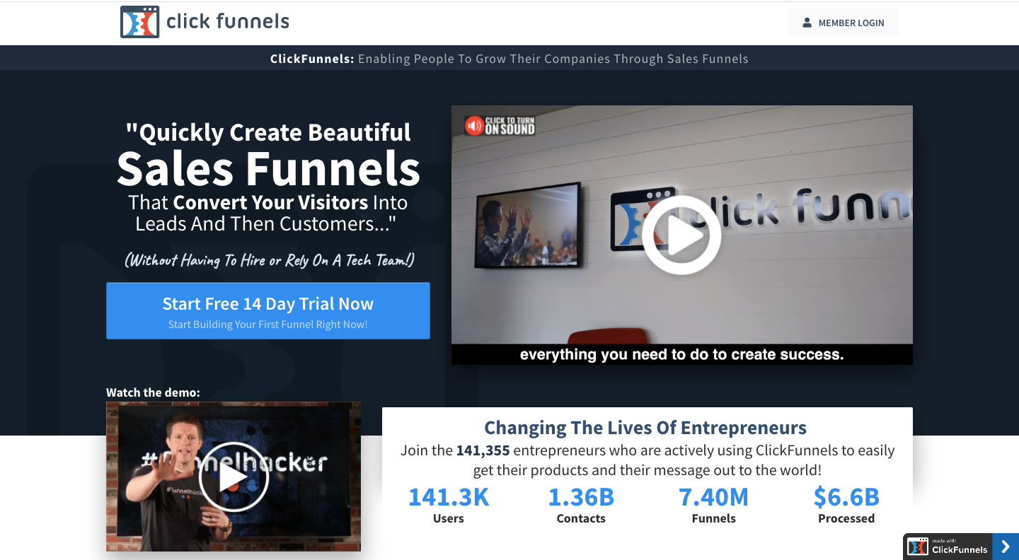 ClickFunnels Marketing Software