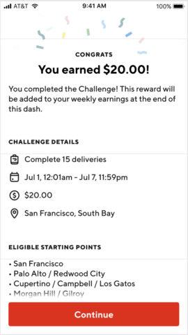 Doordash challenge bonuses