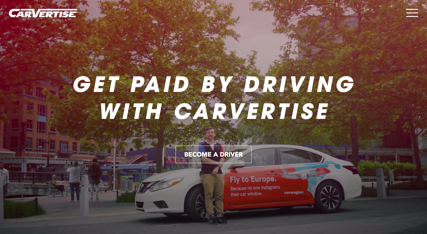 get paid by driving for carvertise
