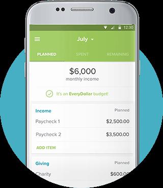 Everydollar mobile screenshot