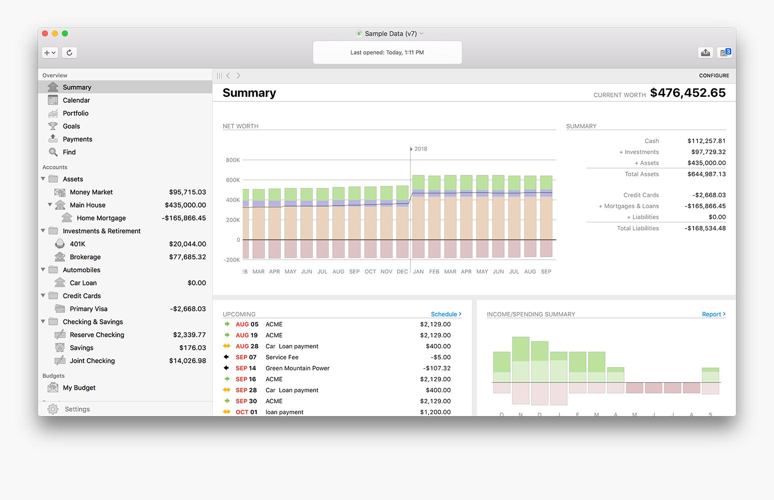 Banktivity Account tracking and management