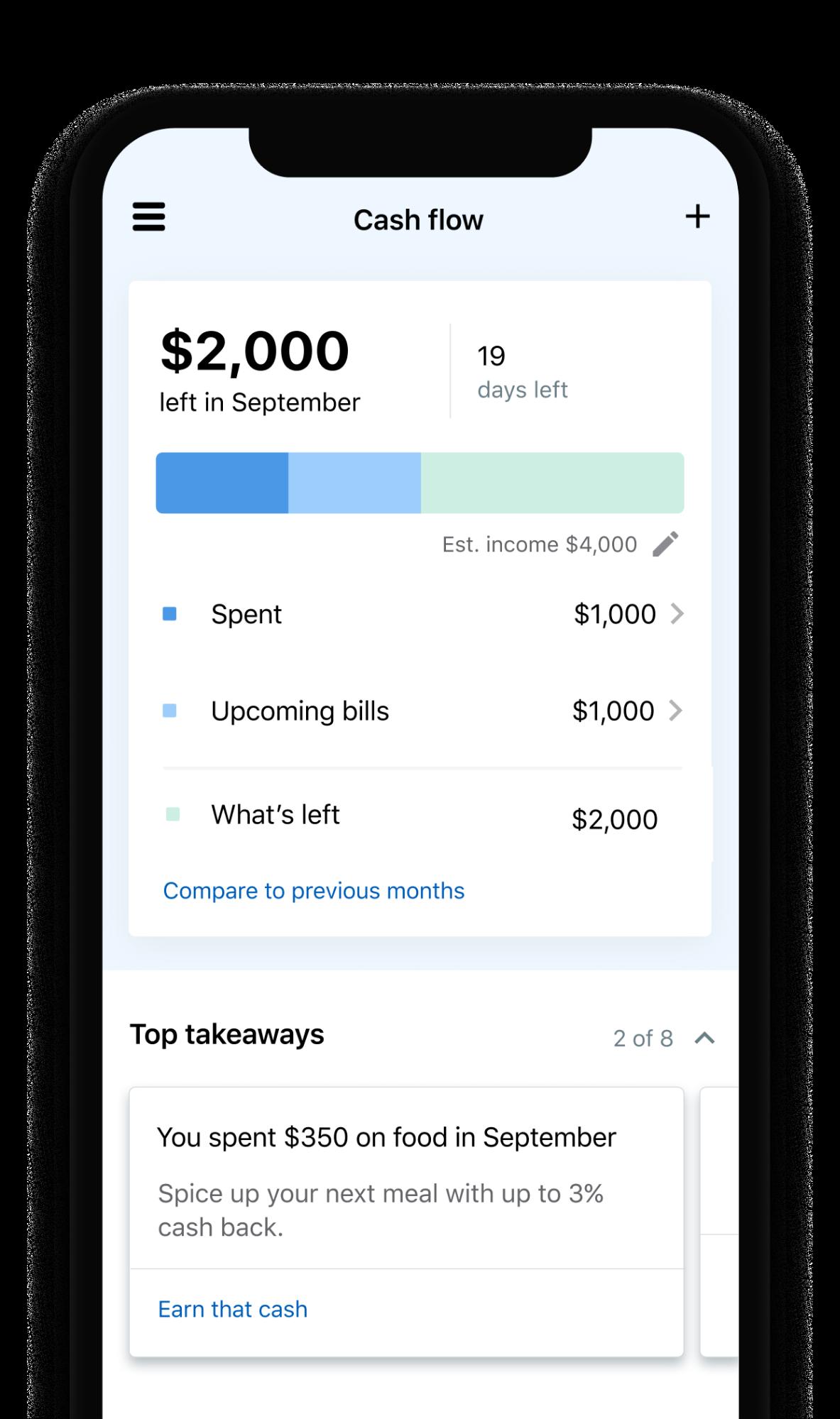 NerdWallet Cash Flow Tab
