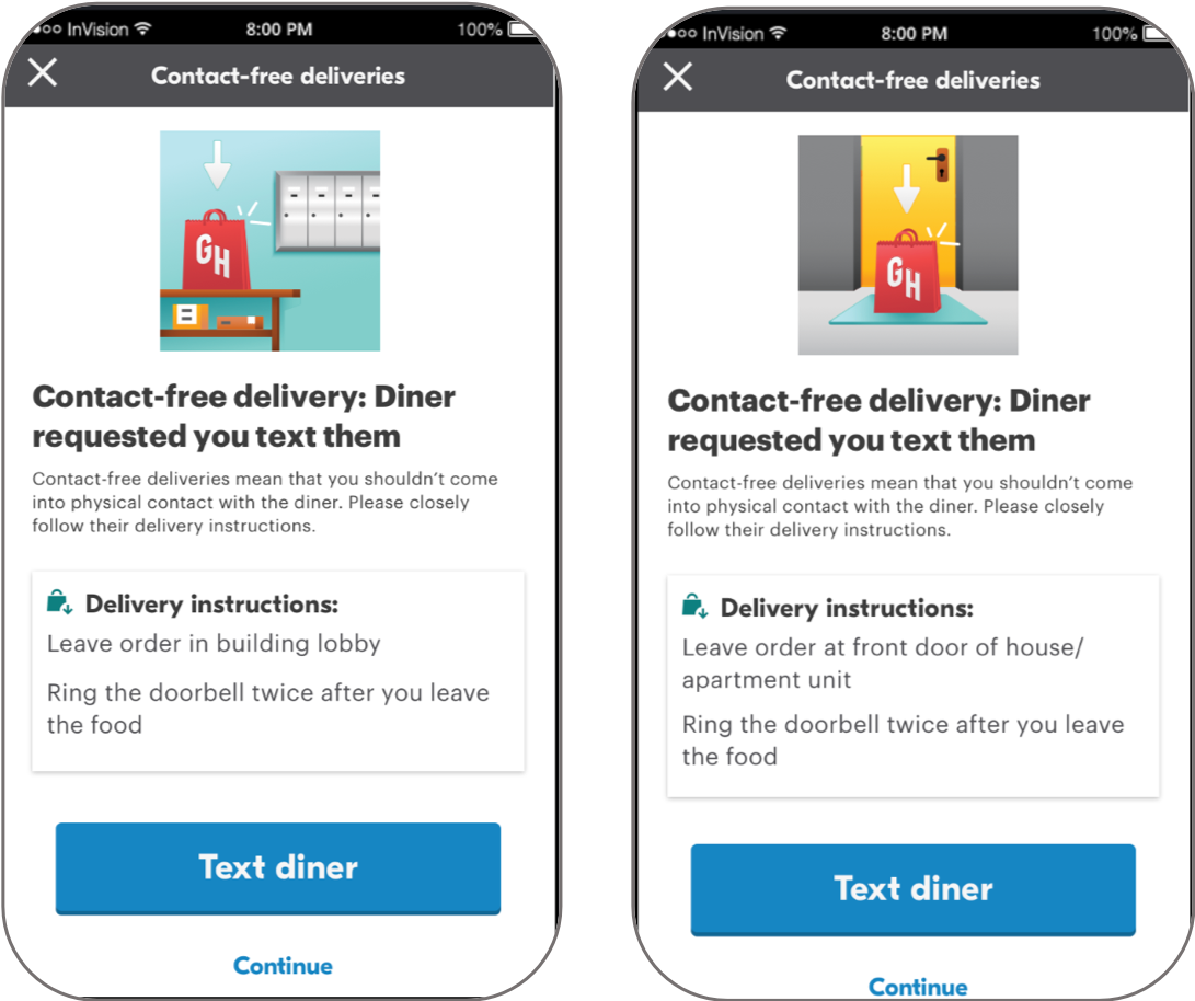 Grubhub Delivery Instructions