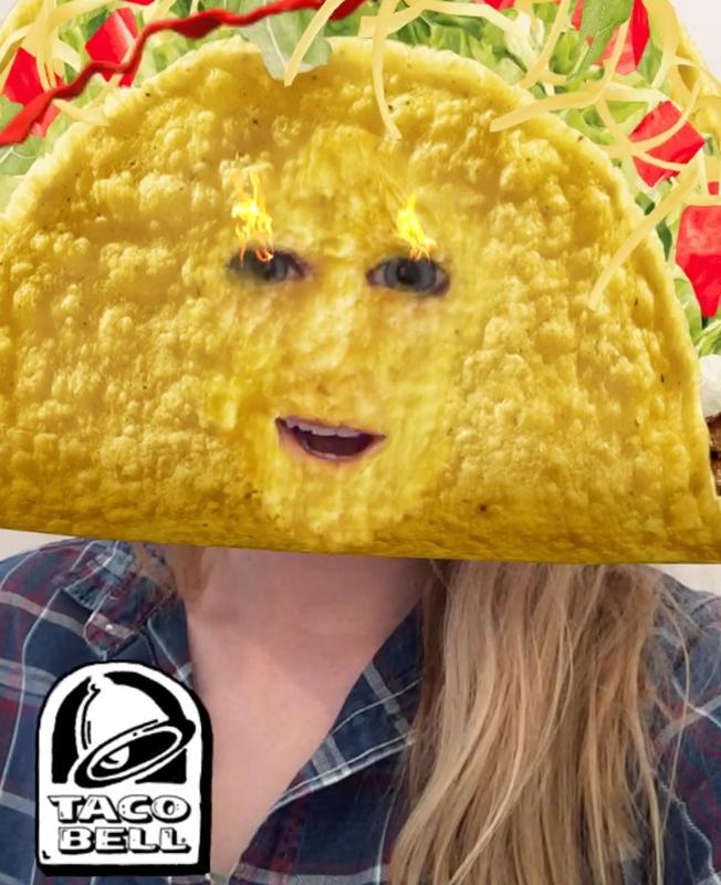Taco Bell Snapchat lens