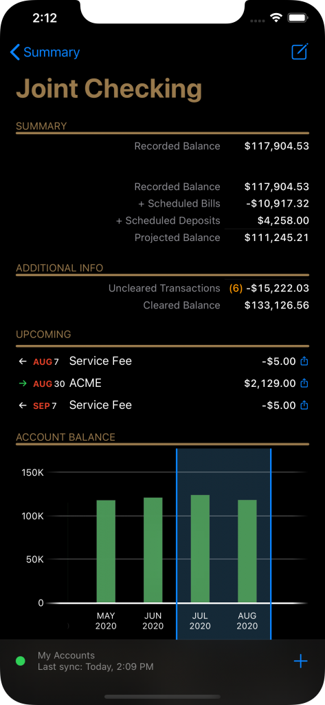 Banktivity Mobile App