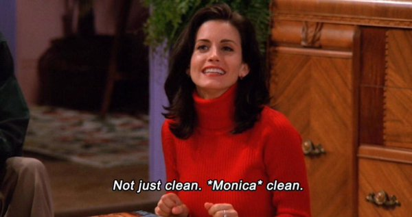 monica cleaning