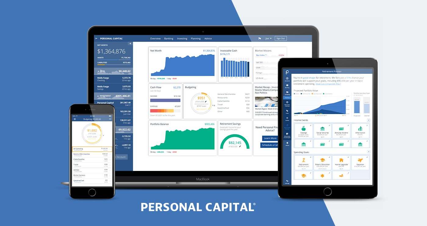 Personal capital dashboard on multiple devices